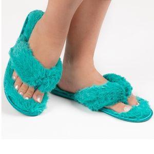 Womens Plush Faux Fur Flip Flop's/SALE☄
